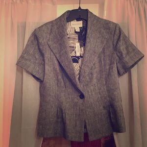 White House Black Market short-sleeved grey blazer